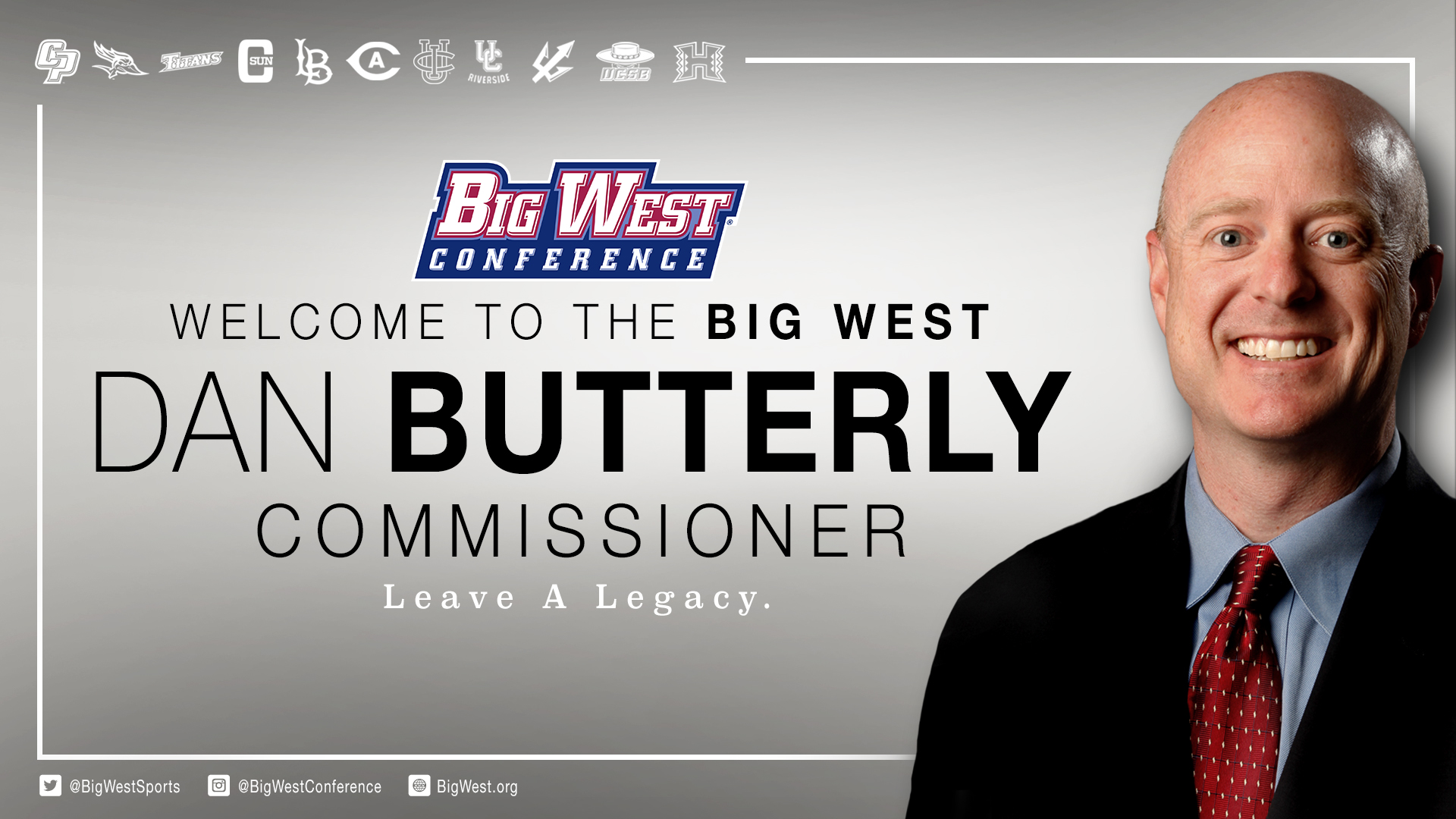 BUTTERLY NAMED FIFTH COMMISSIONER OF BIG WEST CONFERENCE